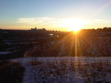 Sunrise over Calgary