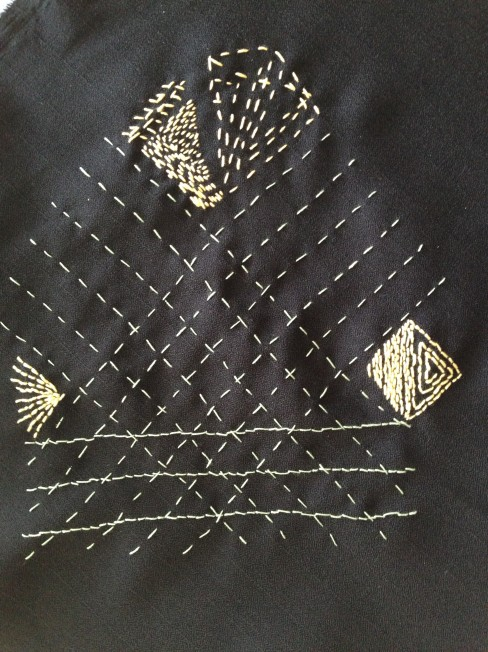 straightlines, mercerised embroidery cotton
